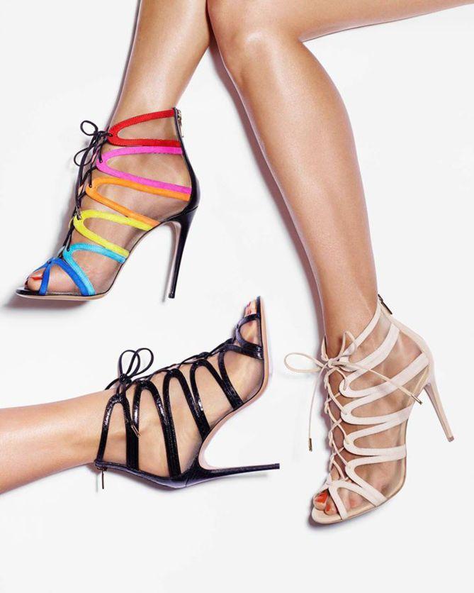 Salvatore Ferragamo Mesh Lace-Up Sandals cheap sale LiNq6