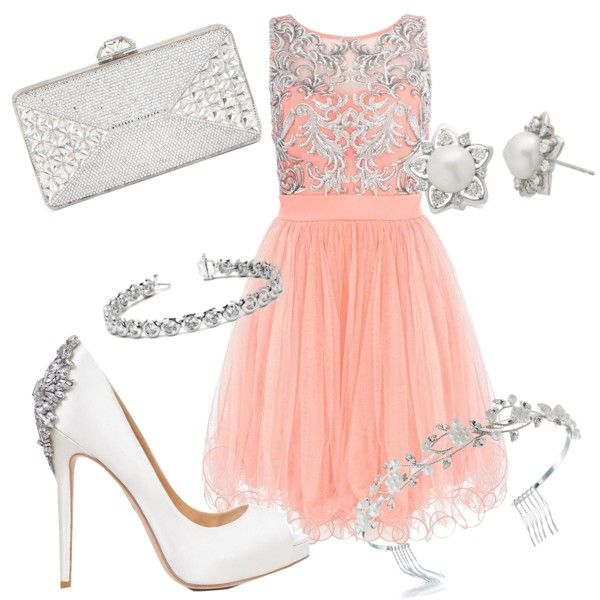 pretty in pink ♡ by vbstardreamer16 on Polyvore featuring polyvore fashion style Quiz Badgley Mischka Judith Leiber Allurez Bling Jewelry