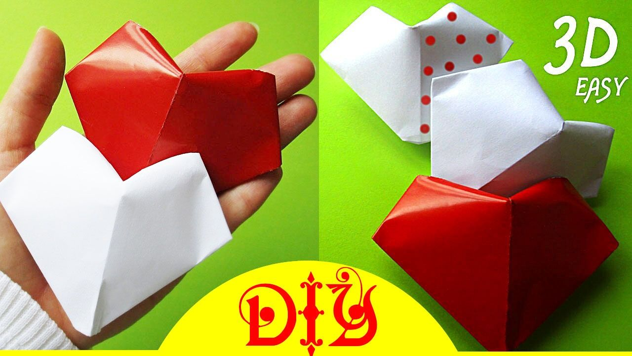 Diy origami how to diy origami how to make a paper puffy heart paper kawaii heart heart balloon valentines day crafts jeuxipadfo Gallery