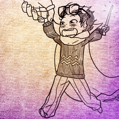 Eridan Couldnt Pick Up The Rifle So Dualscar Gave Him A Wand Oh My