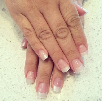 57 ideas nails acrylic clear french tips  acrylic nail