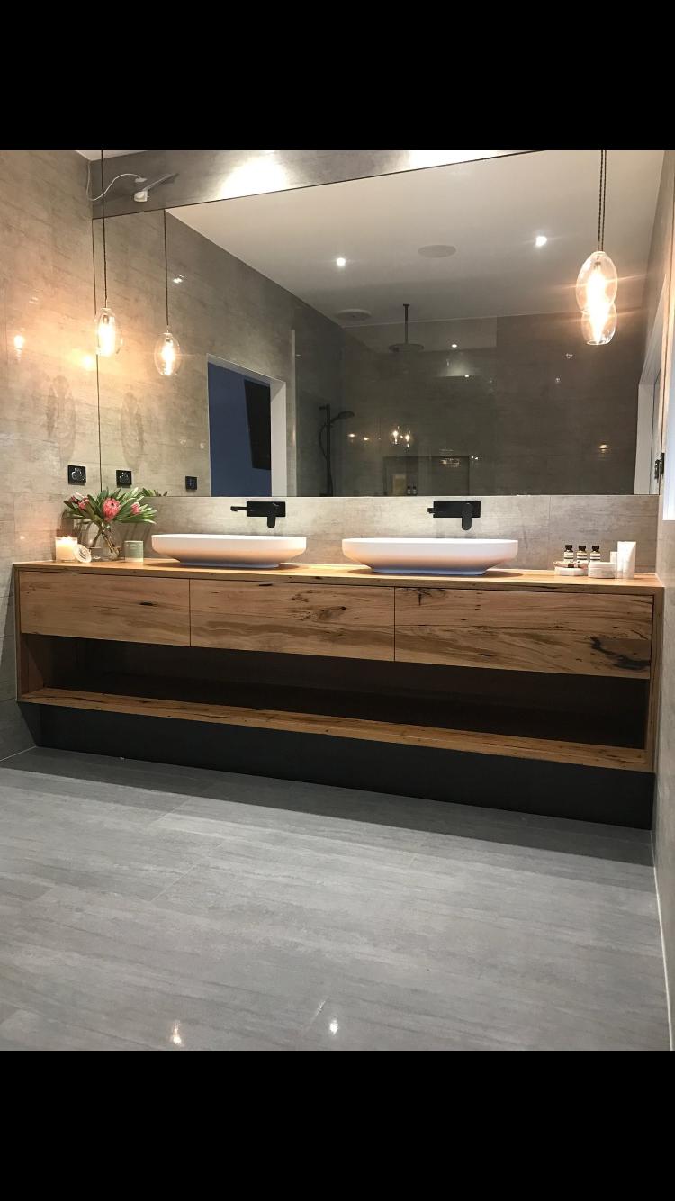 Badezimmer design beleuchtung badkamer huis  wohnen  pinterest  badezimmer bad und baden