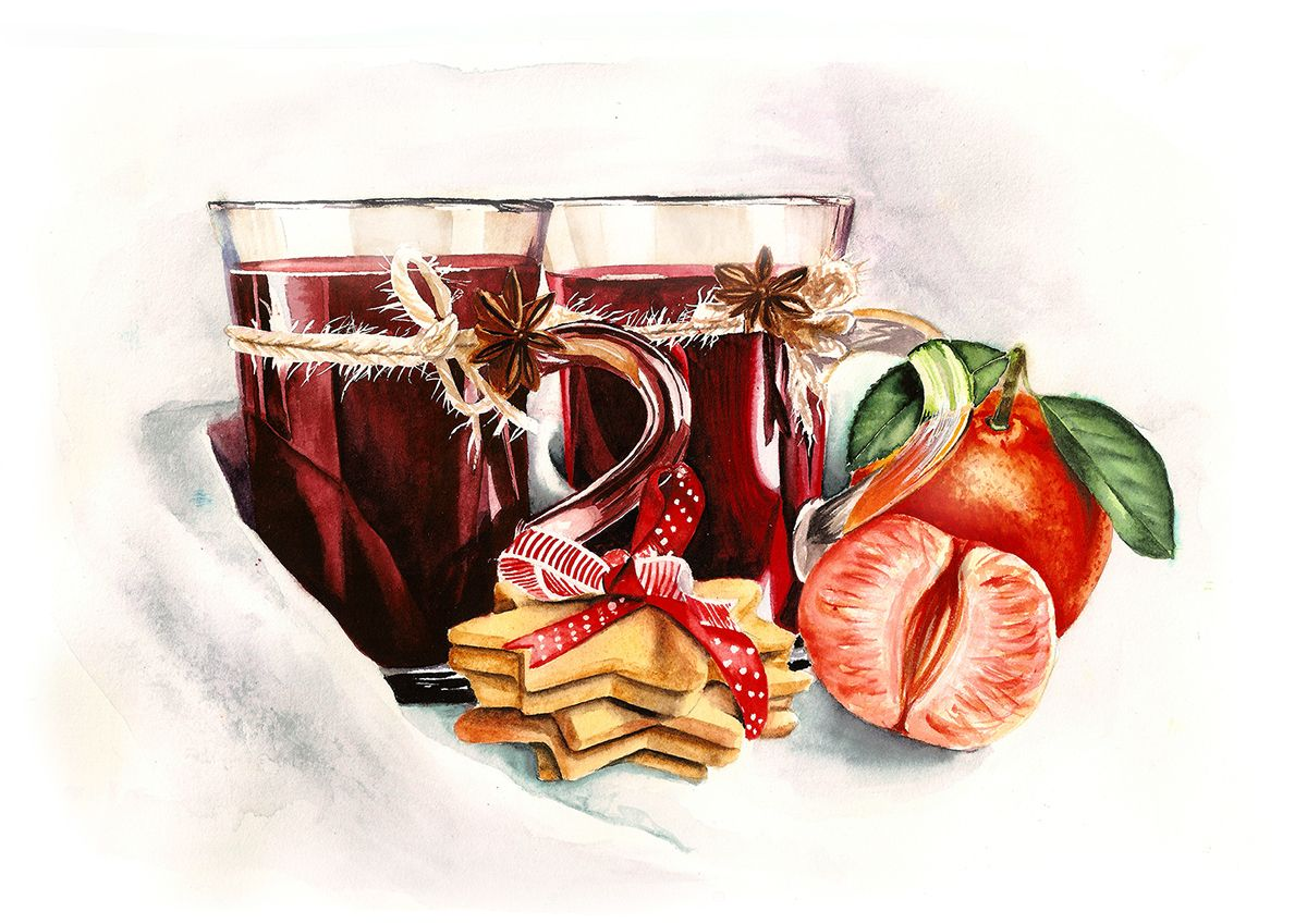 Pin By Annette Yurko On Food Illustration Mulled Wine Wine Mulled