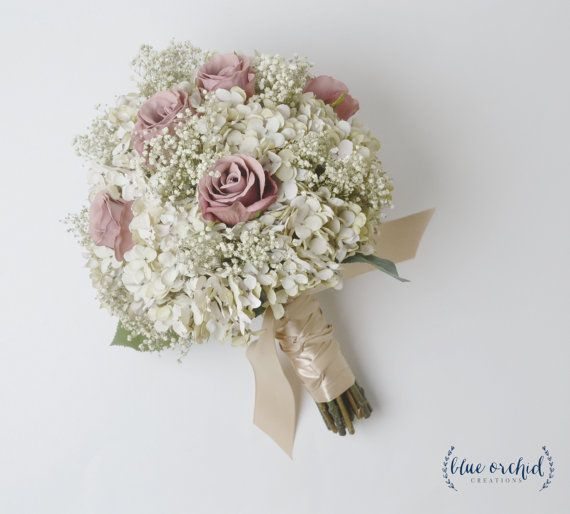 Bridal Bouquet Rustic Bouquet Dusty Rose By Blueorchidcreations Flower Bouquet Wedding Romantic Wedding Flowers Spring Wedding Flowers