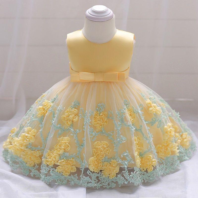 Vestido Festa Infantil Bebês Casamento Aniversário Batizado
