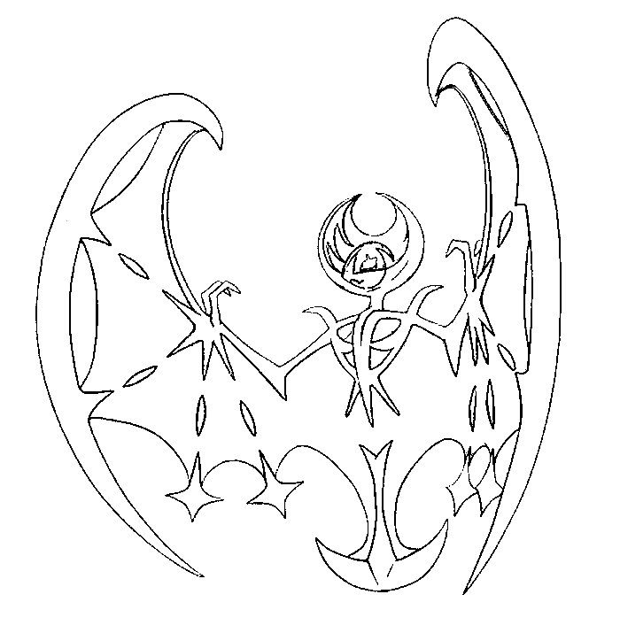 Dibujo Para Colorear Pokemon Sol Y Luna Lunala 1 Dibujos Para Colorear Pokemon Colorear Pokemon Tortas De Pokemon