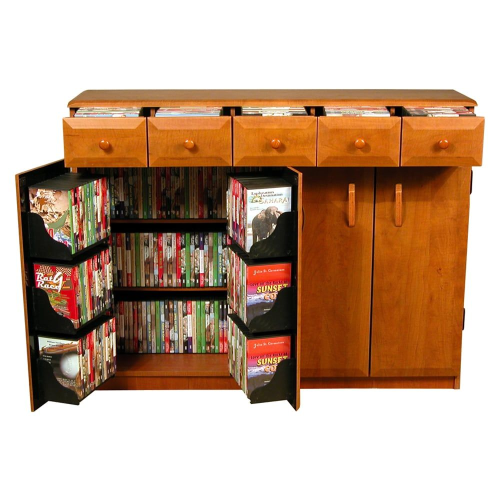 Venture Horizon Media Cabinet With Drawers With Images Dvd