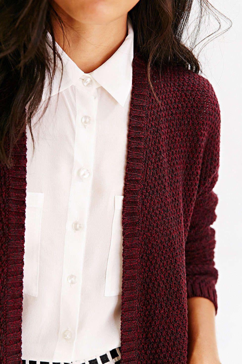 BDG London Cardigan - such a pretty rich burgundy color | Wishlist ...