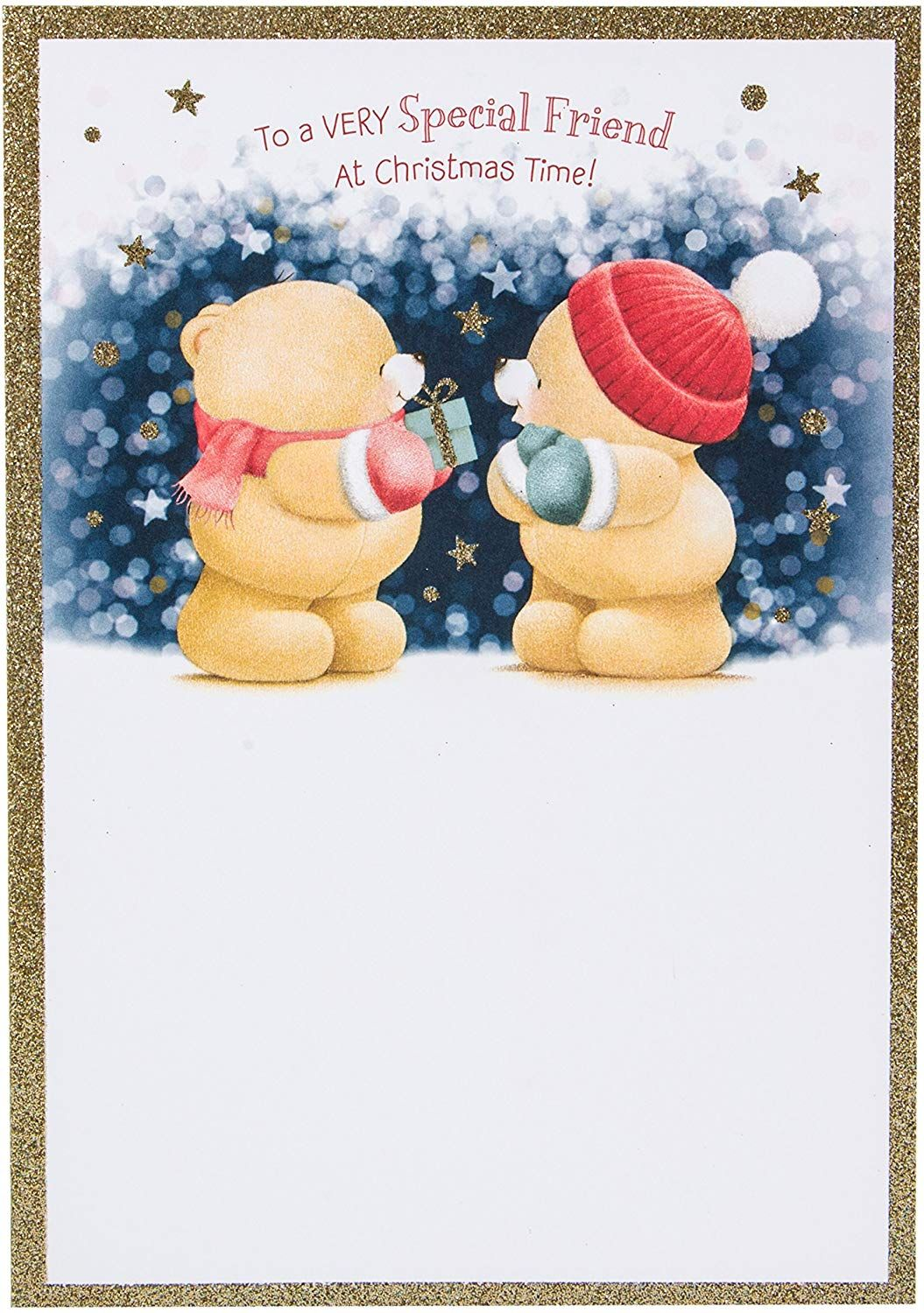Hallmark Forever Friends Christmas Card To A Very Special Friend Medium Amazon Co Uk Office Product In 2020 Friend Christmas Hello Kitty Christmas Special Friend