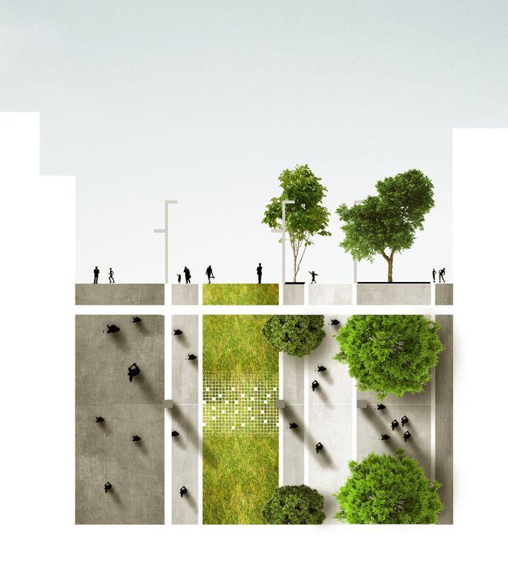 Plan  Landschaftsarchitektur Städtebau Lageplan Gartenplan #urbanesdesign