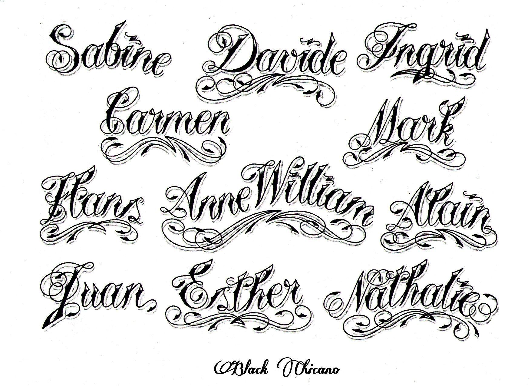 Pics Photos Chicano Font Style Generator New Tattoo Tattoo