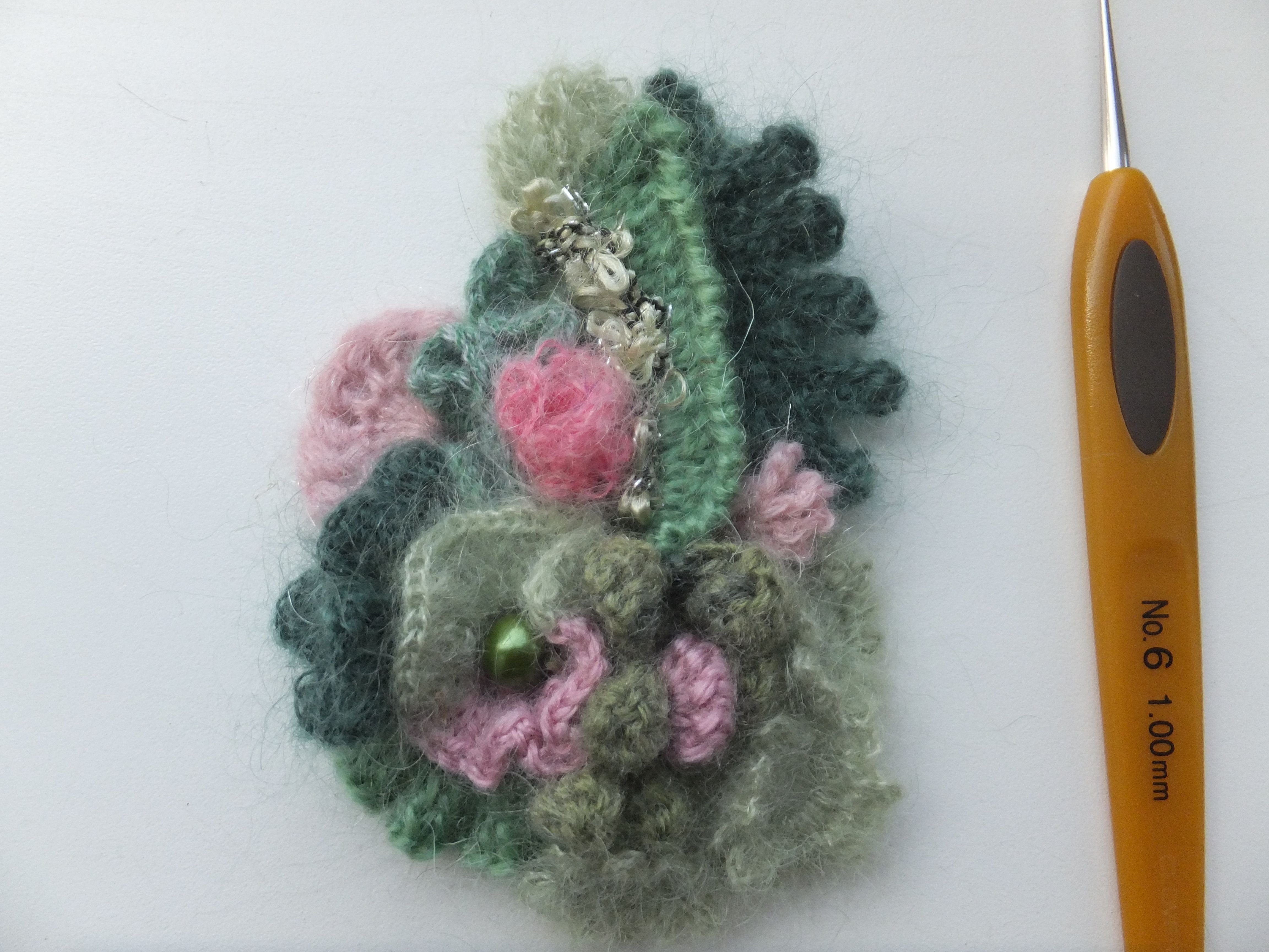 pin crochet etsy ornament flower crocheted brooch shop com applique