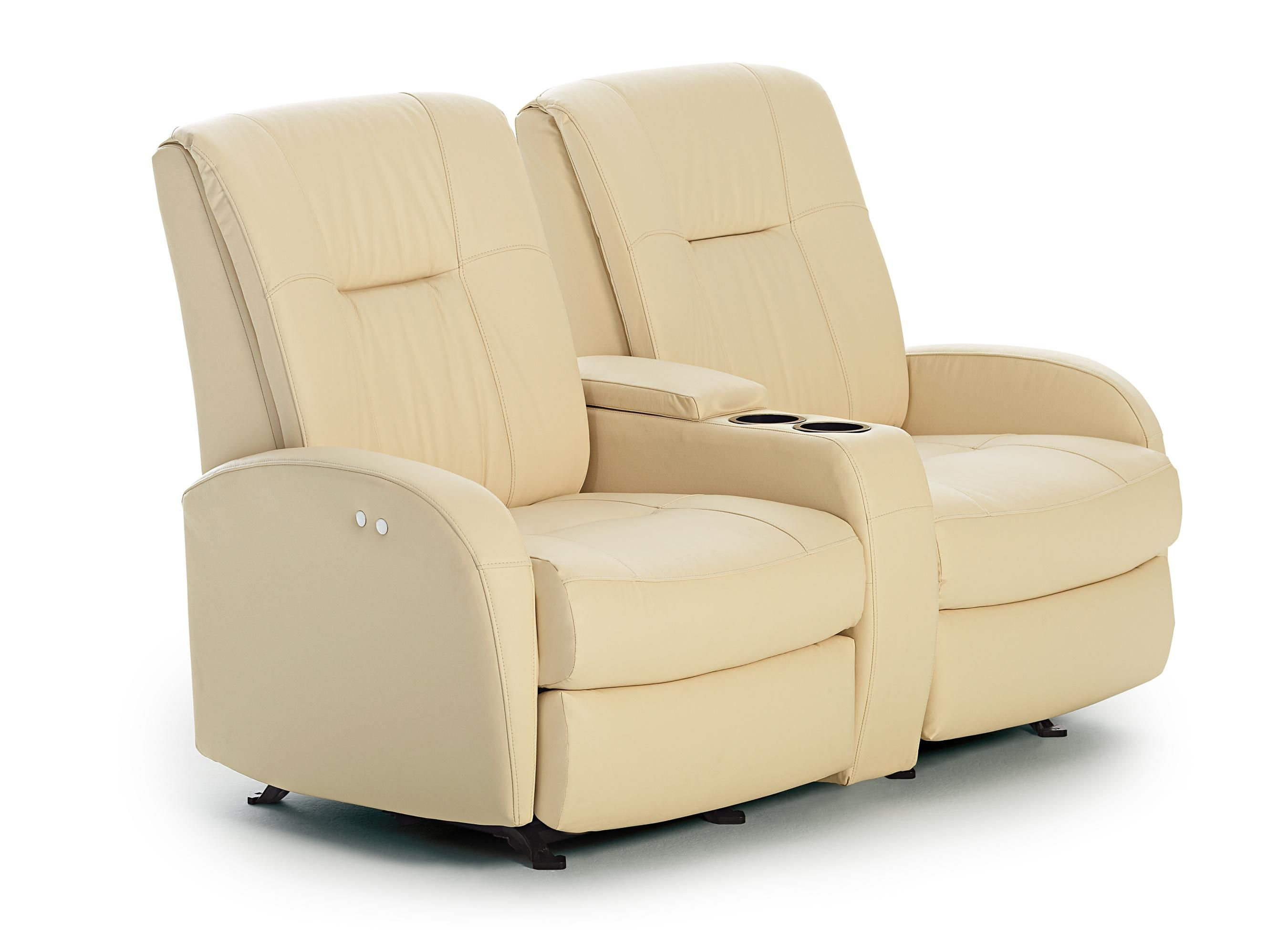 Small reclining loveseat contemporary space saver for Small modern chair