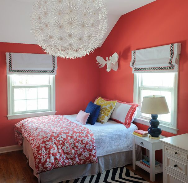 Tulip Colored Bedroom - Dark Salmon, Benjamin Moore