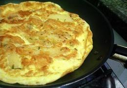 Miniatura do Omelete (com cascas de banana)