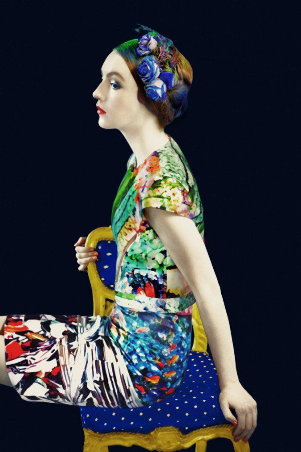Fashion designer, Mary Katrantzou, collaborated with photographer, Erik Madigan Heck, to showcase her collection in surreal and artistic way.