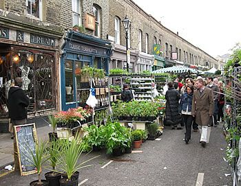 The flower market on Columbia Road!