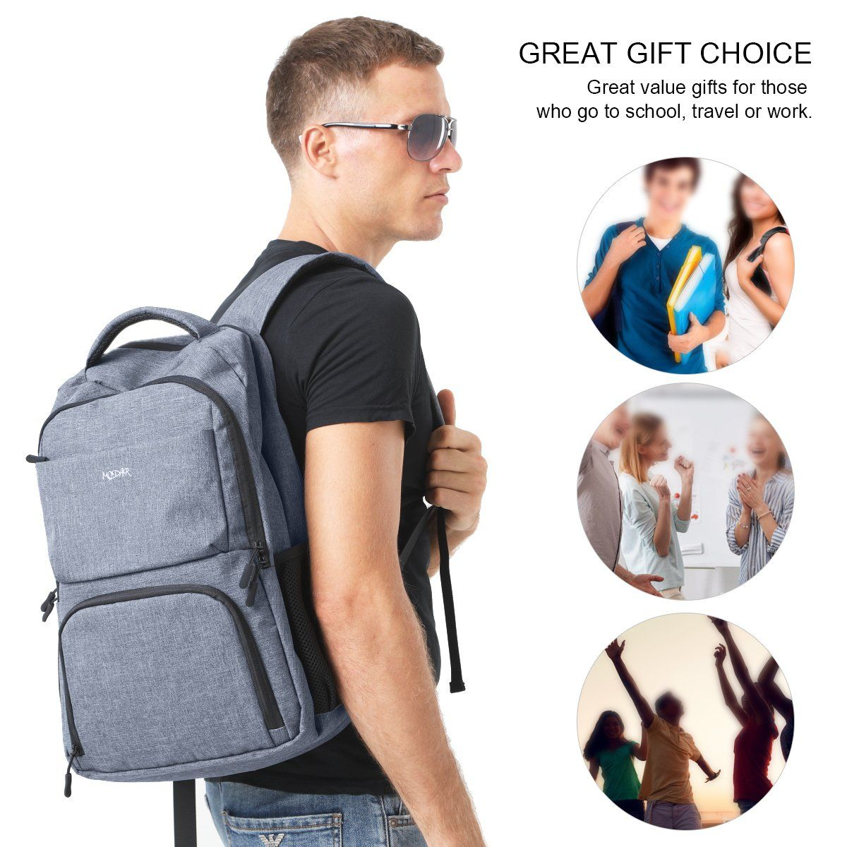a87bbaef87ec ERAY Travel Laptop Backpack for Men and Women Fit 15.6 Inches ...