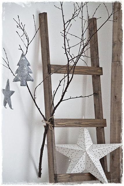 Escaleras decorativas en navidad escaleras - Escaleras de madera decorativas ...