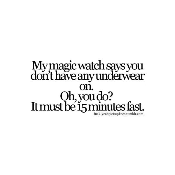 FUCK-YEAHPICKUPLINES ❤ liked on Polyvore