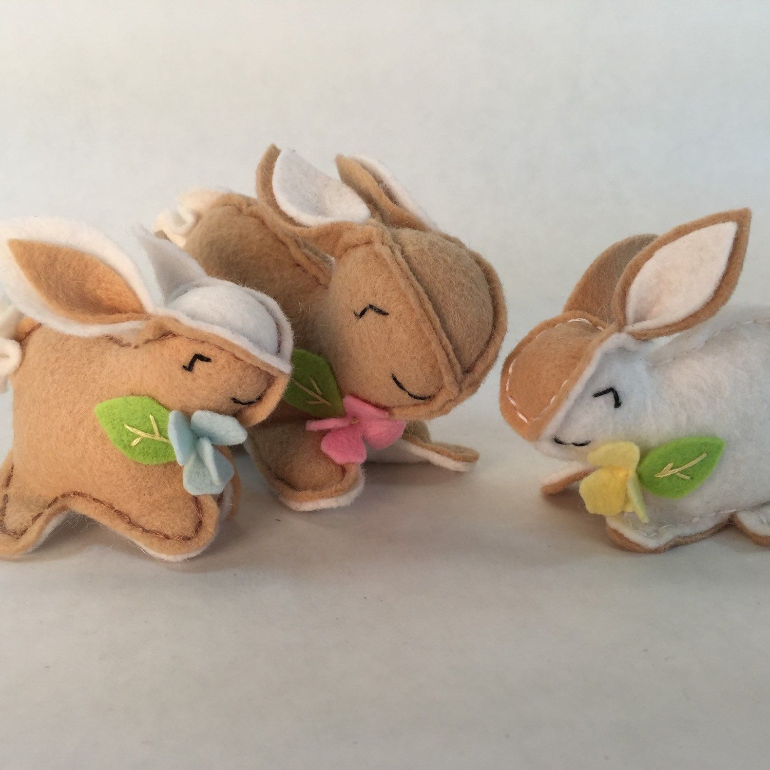 It's bunny time. Hop to it and get stitching! DIY sewing kit includes everything you need to make mama bunny and her two babies.