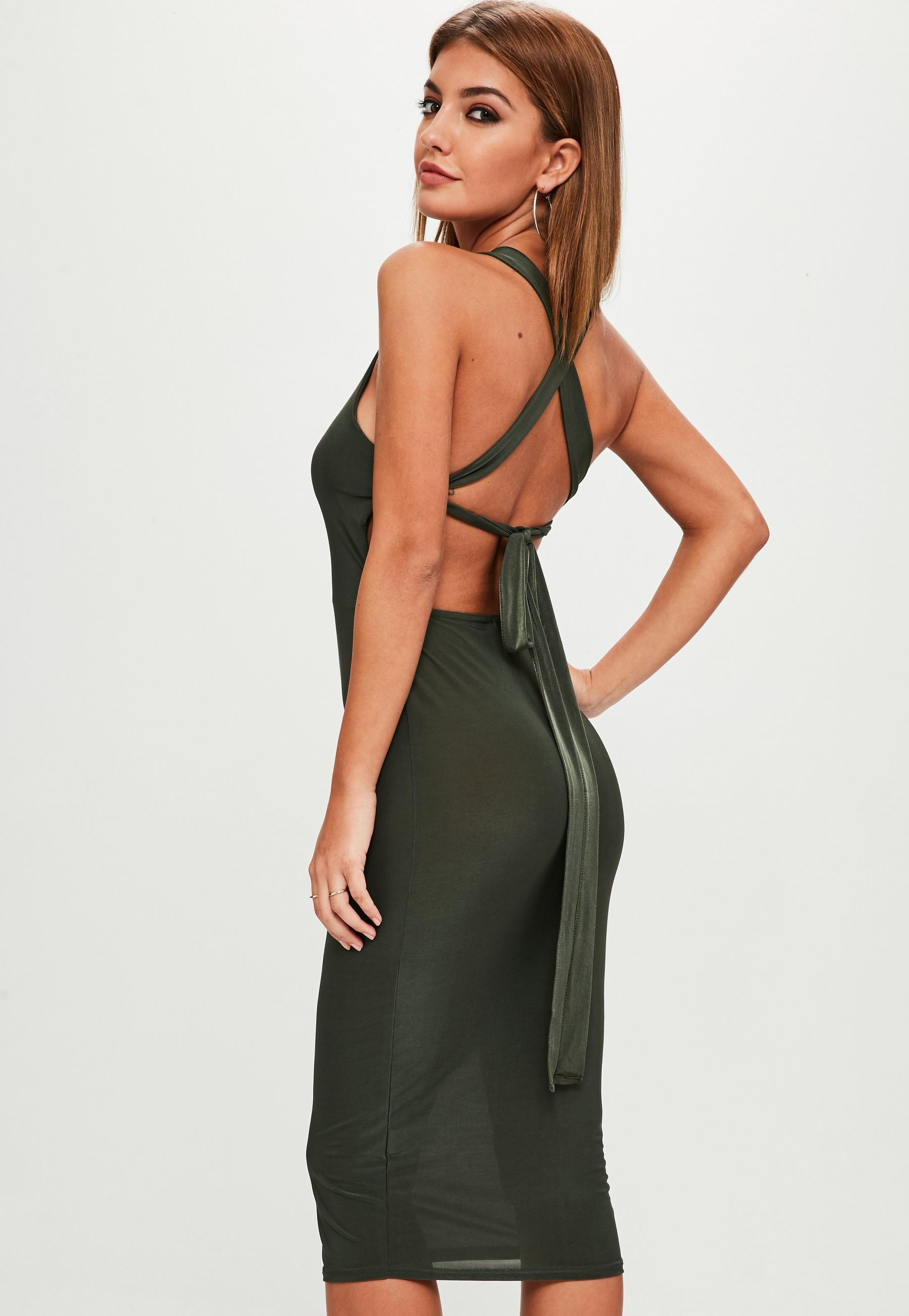 049bf90798cf Khaki Square Neck Bodycon Dress | Missguided Australia | susan's ...