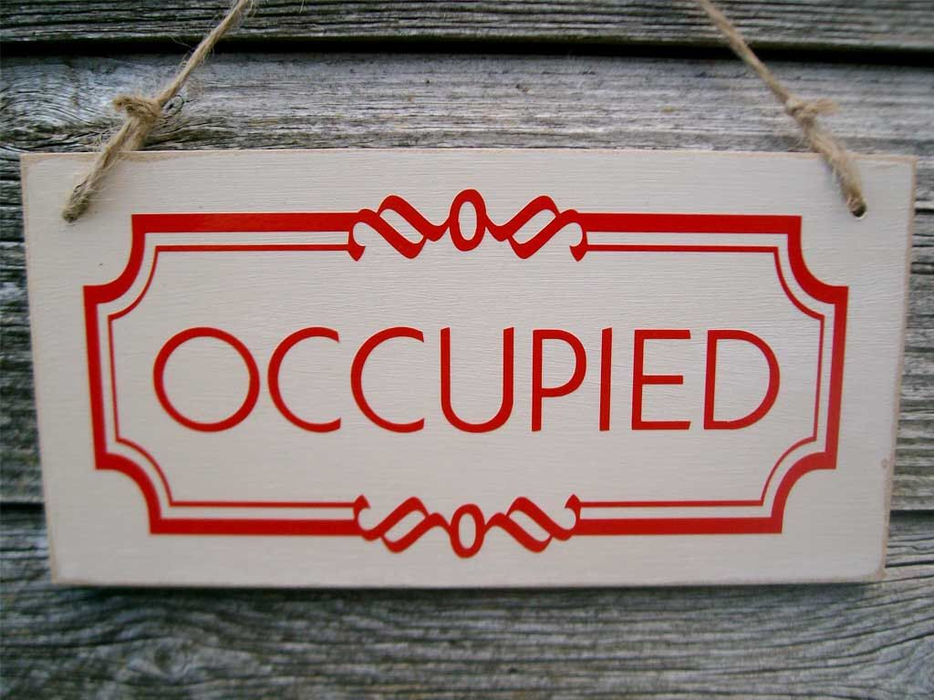 Occupied Vacant Double Sided Bathroom Door Sign Toilet Sign B B Sign Wedding Gift Housewarming Gift Occup Bathroom Door Sign Bathroom Signs Room Signs