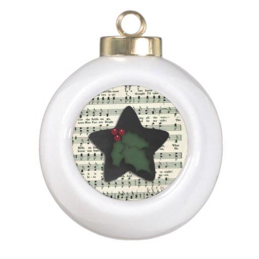Music Sheet Star Christmas Tree Ornament Music sheets, Christmas