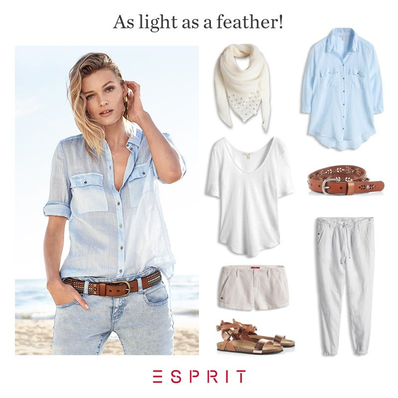 As light as a feather! Our new airy #Esprit #styles of #linen are perfect for warm #summer temperatures: