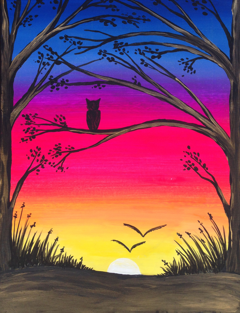 Come Paint Quiet Forest At Pinot S Palette Datenightideas