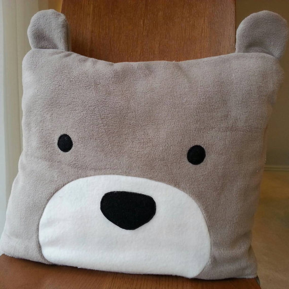 Bear Throw Pillow Blanket Check Out This Item In My Etsy Shop Https Www Etsy Com Listing 503082549 Throw Blanket Bear Pillow Fluffy Blankets Animal Pillows