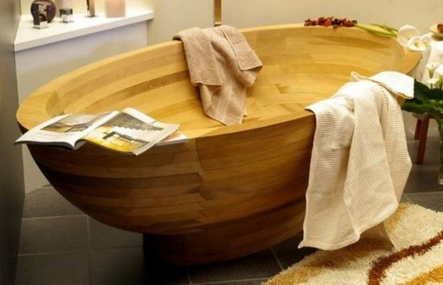 30 Relaxing and Chill Wooden Bathtubs HOME DECOR  TIPS