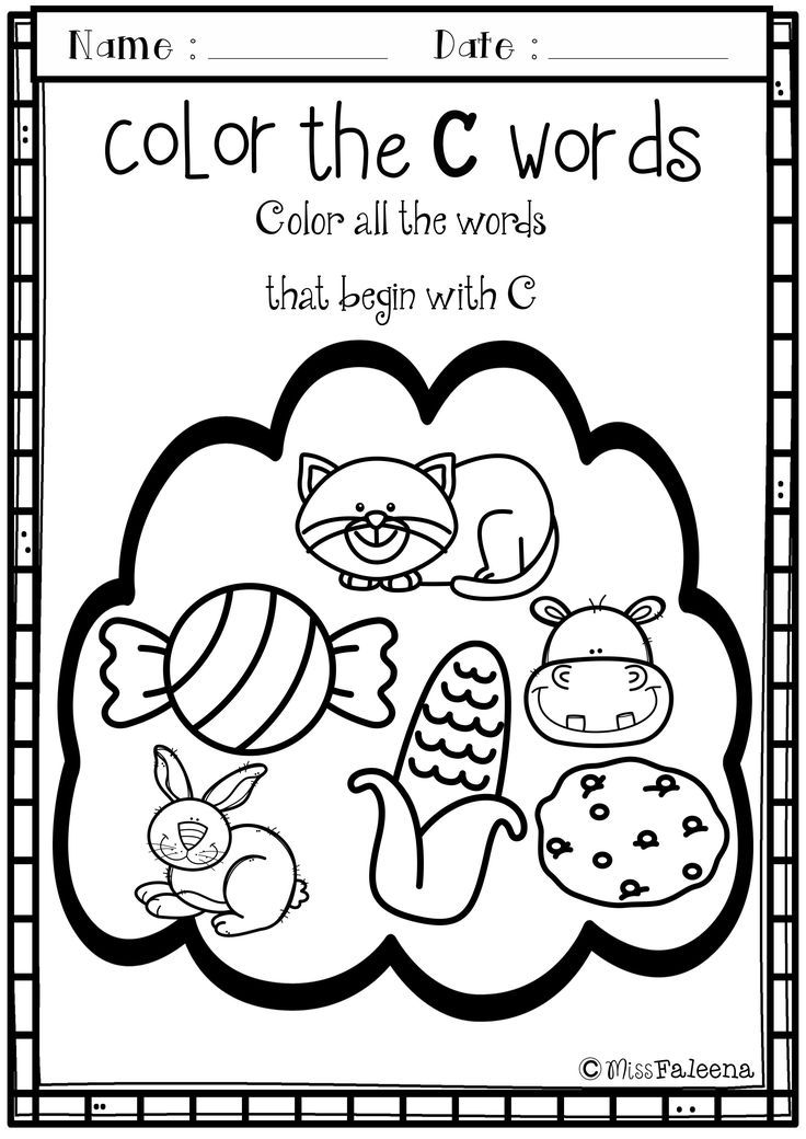 Alphabet Letter of the Week C – Letter C Worksheets for Preschool