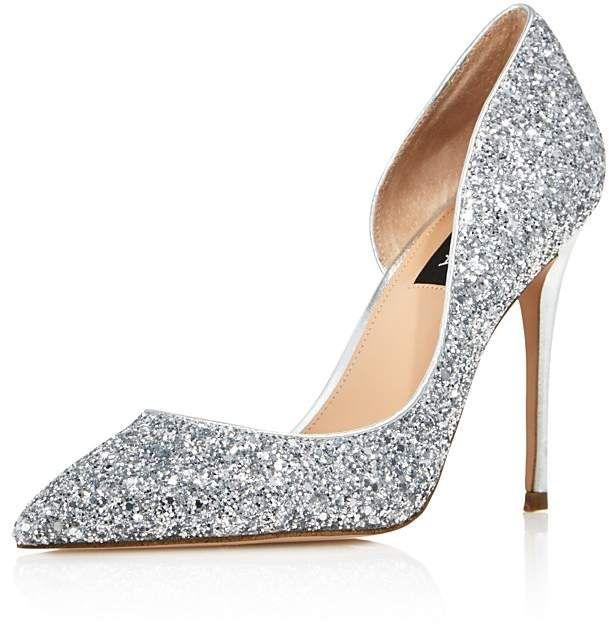 e43d17f98 Aqua Women's Dion Glitter Embellished High Heel d'Orsay Pumps - 100%  Exclusive