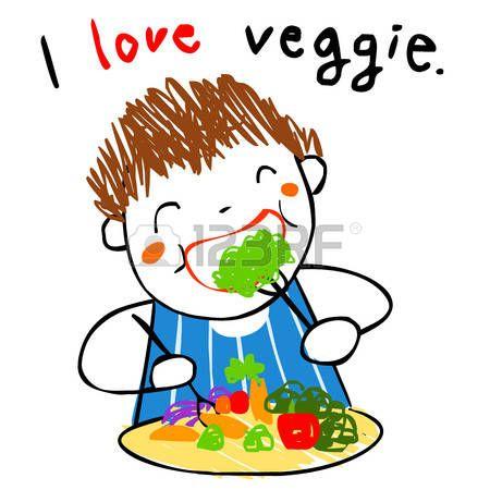 Nino Comiendo Ensalada Imagenes De Archivo Vectores Nino Como Dibujar Ninos Dibujos Para Ninos Ninos