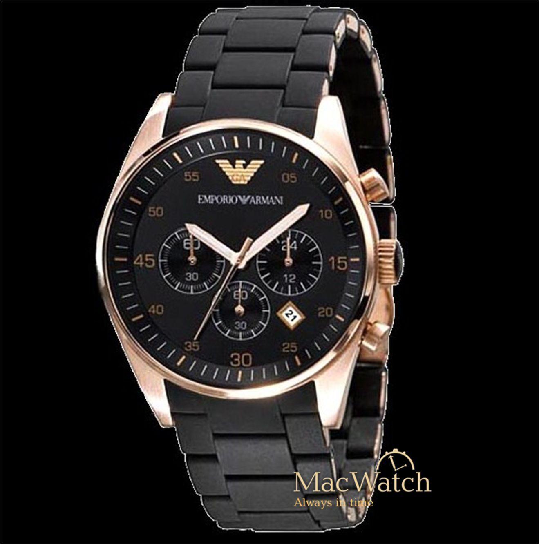 de2c3785b88e EMPORIO ARMANI Herren Uhr AR5905 Chronograph Schwarz