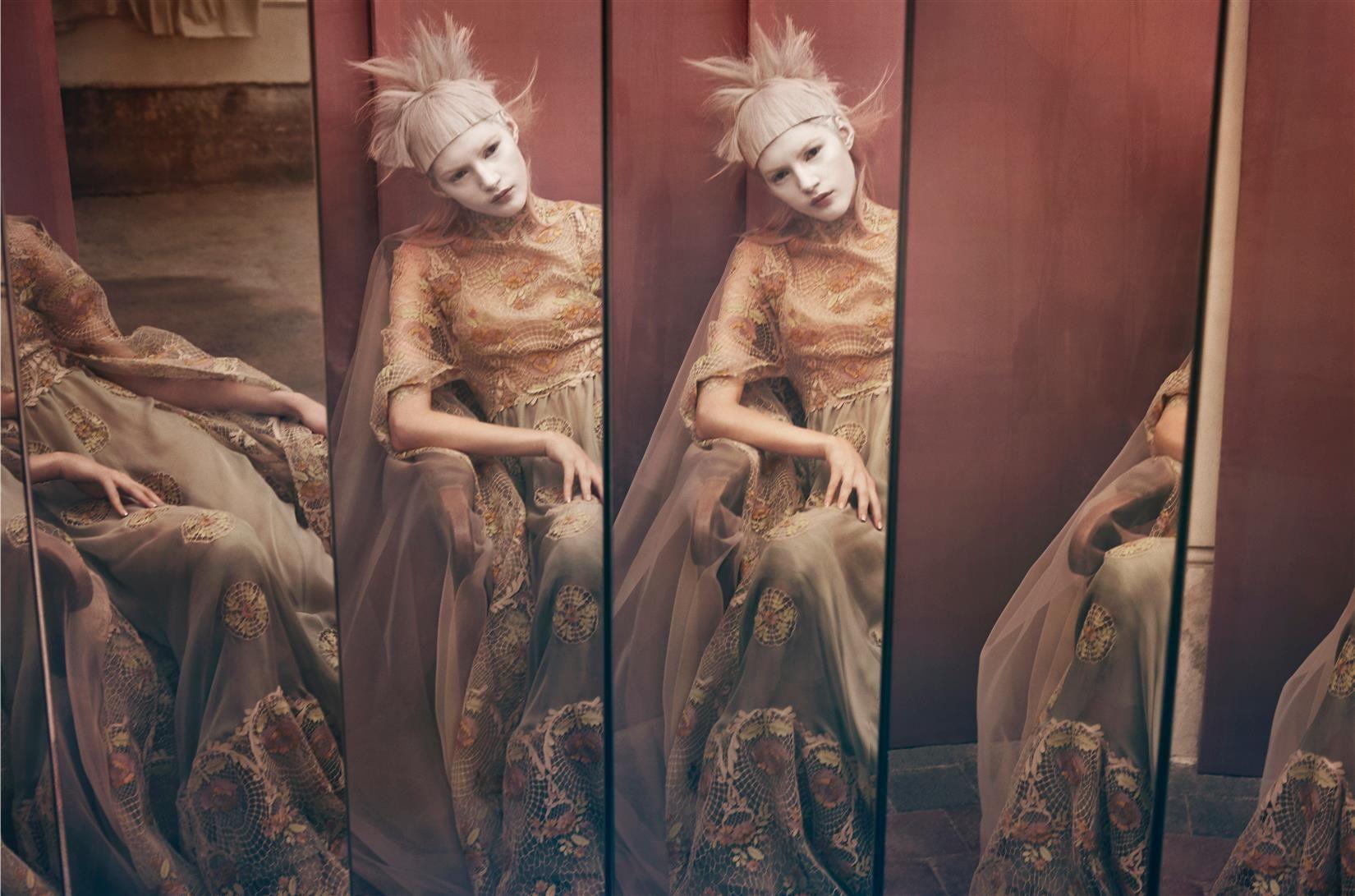 Publication: Vogue Italia March 2015 Model: Valery Kaufman Photographer: Sølve Sundsbø Fashion Editor: Patti Wilson Hair: Eugene Souleiman Make-up: Val Garland