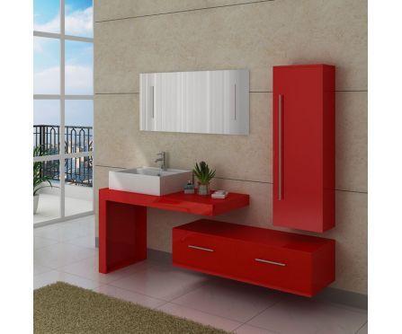 wwwbaignoire-balneofr 4564-thickbox dis9250co-meuble-salle - salle de bain rouge et beige