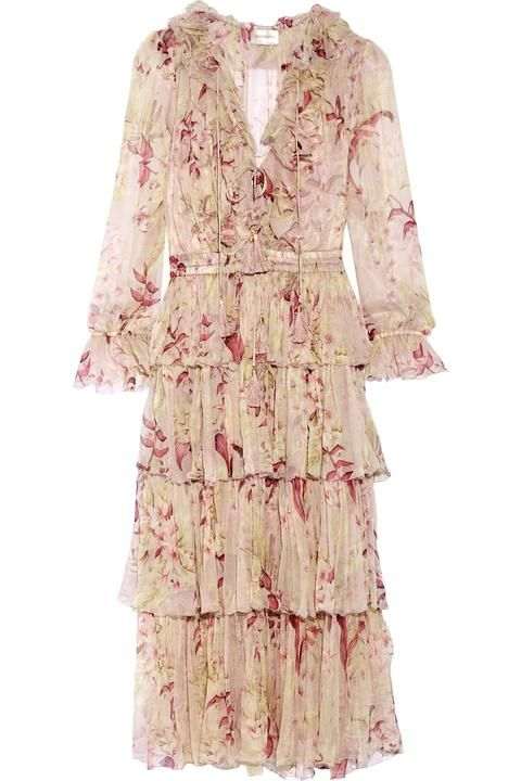 Winsome Tiered Crinkled Silk-chiffon Dress | Yes please | Pinterest ...