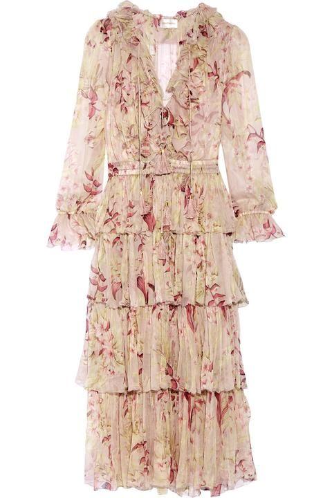 4a10b30c7b5b Zimmerman Winsome Tiered Crinkled Silk-chiffon Dress | Boho ...