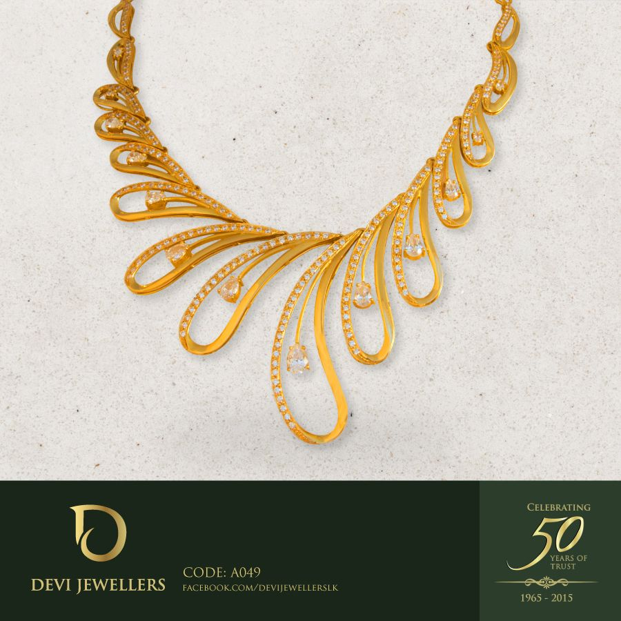 Be different in this uniquely crafted necklace. #DeviJewellers ...