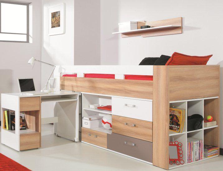Lits Cuir Design Lit Mezzanine Enfant Lit Enfant Sureleve Lit Adolescent