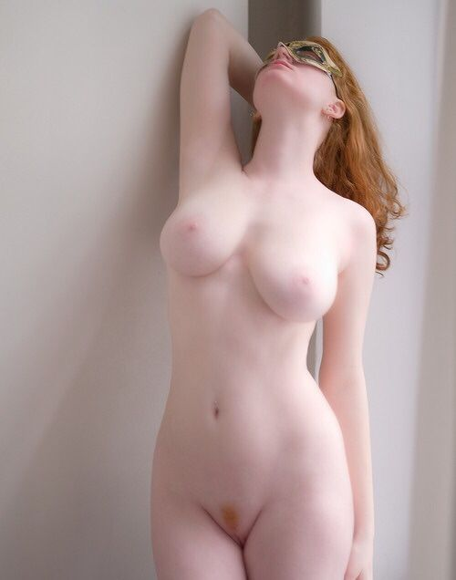 Skin pale girls hair Red nude