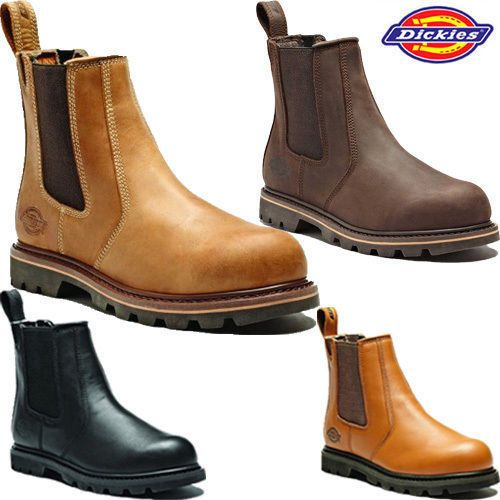 Mens Dickies Dealer Chelsea Ankle Steel Toe Cap Safety Pull On Work Boots Shoe View More On The Link Http Www Z Steel Cap Boots Pull On Work Boots Boots