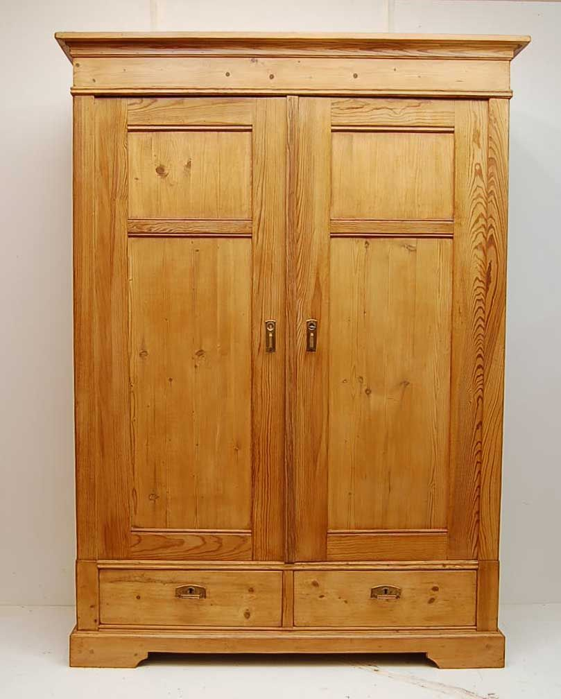 Pine wardrobe closet and bedroom storage