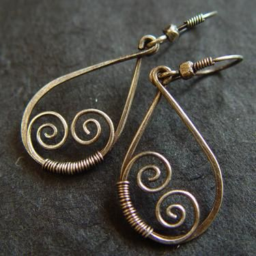 bell earrings flower original product by silver crocus long gabriellacasemorejewellery sterling wire gabriella