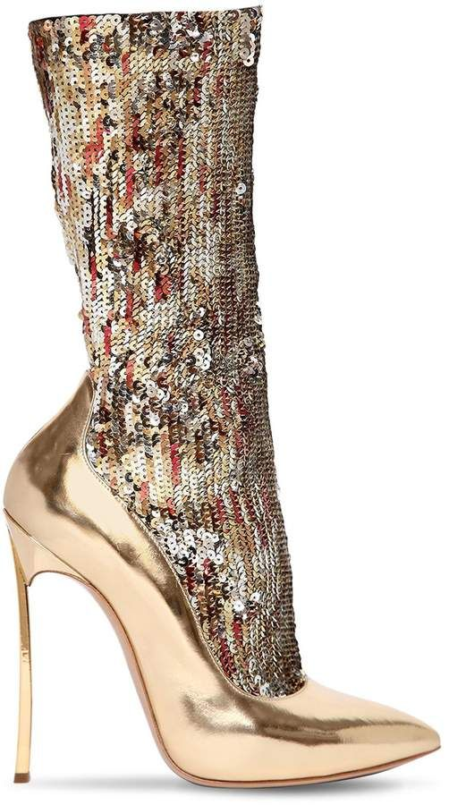 902bd1f0bb0 Casadei 120mm The Party Blade Sequined Boots in 2019 | Fashion ...