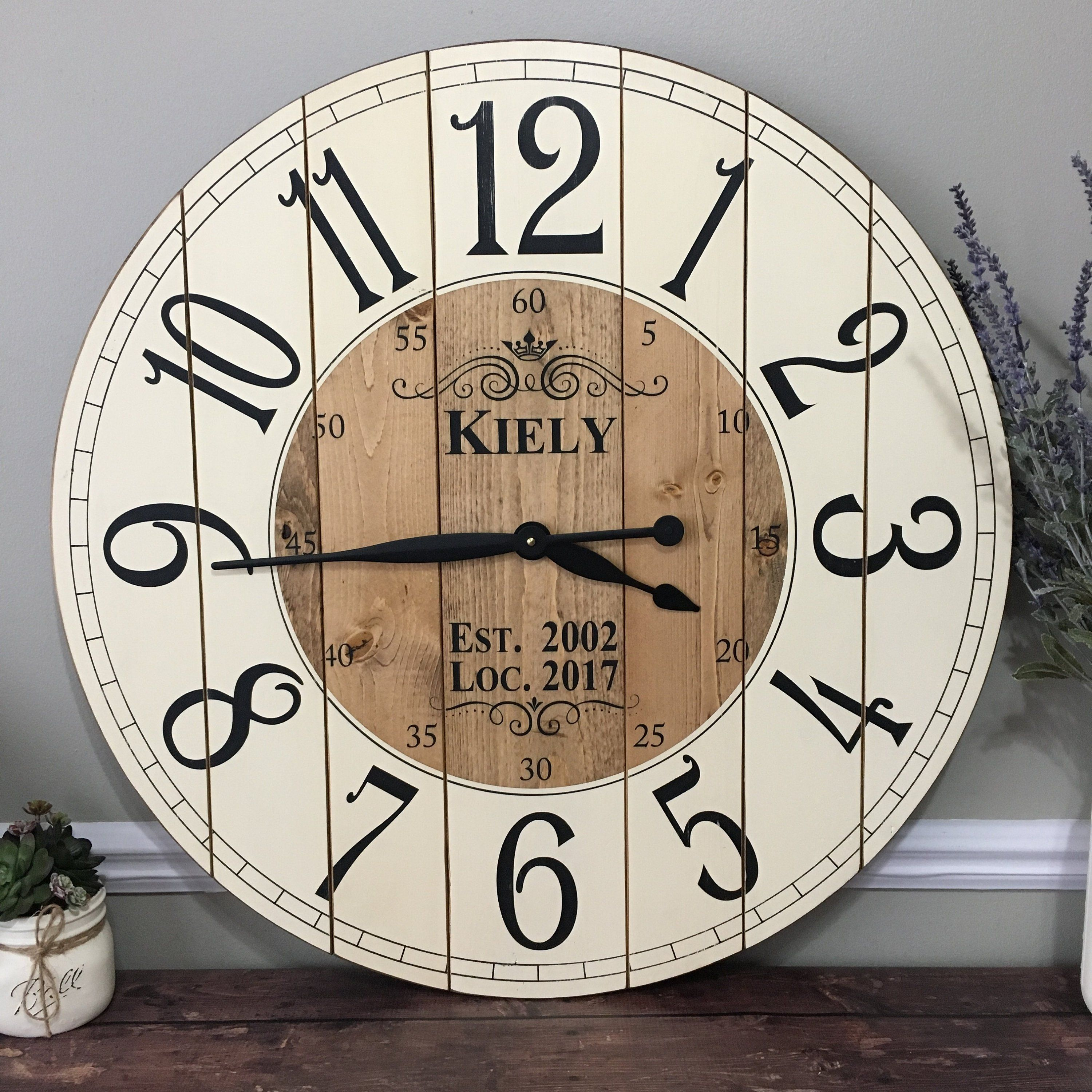 32 Inch Farmhouse Clock With Arabic Numbers Interesting