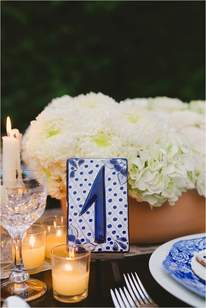 Romantic and Elegant Blue Franciscan Gardens Wedding Inspirational Shoot