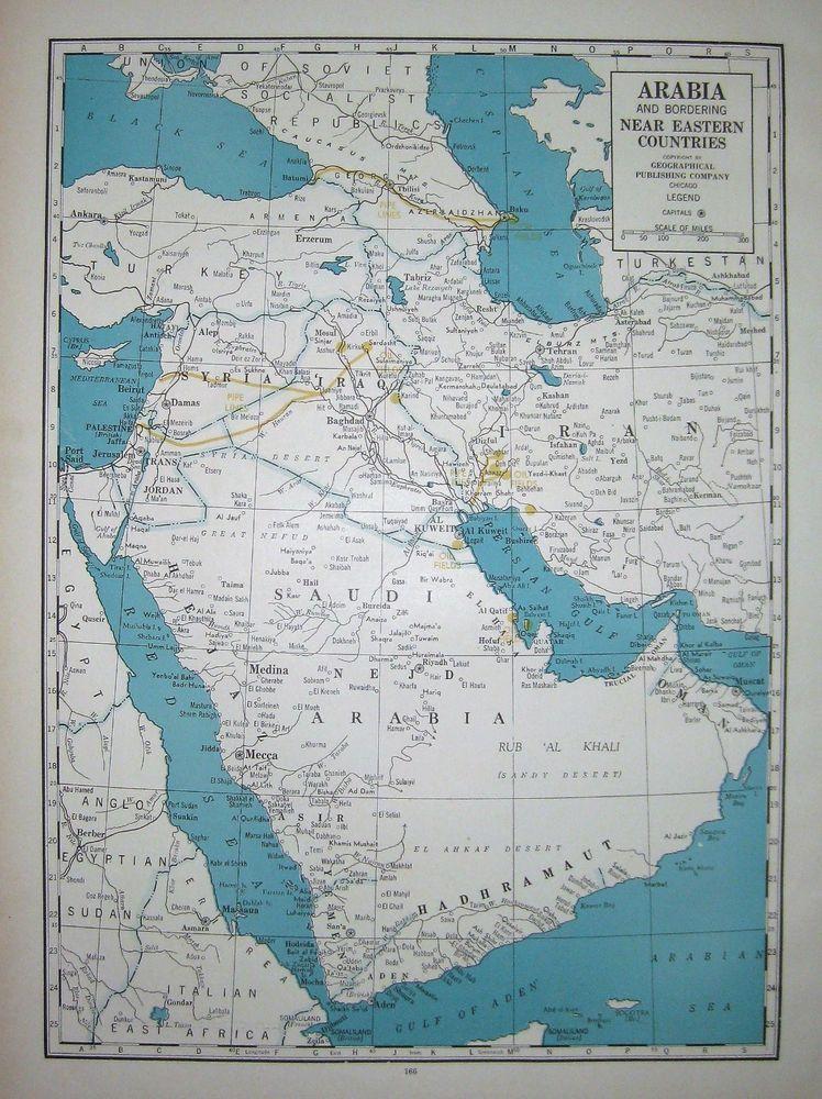1944 Antique SAUDI ARABIA Map Vintage Iran Syria Iraq Map ... on vietnam world map, netherlands world map, ireland world map, israel world map, yemen world map, iraq world map, syria world map, ukraine world map, macedonia world map, belgium world map, nigeria world map, china world map, venezuela world map, congo world map, cambodia world map, turkey world map, india world map, iran world map, egypt world map, afghanistan world map,